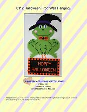 Hoppy Halloween Frog n Wall Hanging-Plastic Canvas Pattern or Kit