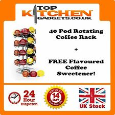 Dolce Gusto Coffee 40 Pod Capsules Tower Rack ✰ Revolving Spiral Stand Holder ✰