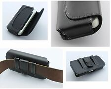 Leather Holster Clip Loop Fits with Skin Slim Thin Silicone Case on the phone
