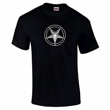 Baphomet Pentagram Symbol Devil Worship Satanic Goat Of Mendes Dark Side T-Shirt