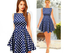 Polka Dot blue  women dress summer sexy bodycon party casual cocktail mini dress