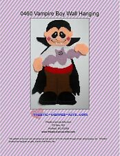 Halloween Vampire Boy Wall Hanging-Plastic Canvas Pattern or Kit