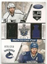 12/13 CERTIFIED PATH TO THE CUP JERSEY Hockey /250 (Assorted) U-Pick from List