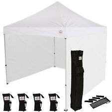 10x10 EZ Pop Up Canopy Tent Instant Canopy Tent with Sidewalls + Weight Bags