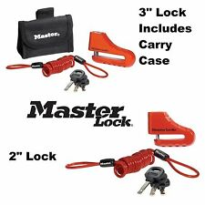 "MasterLock Disc Brake Lock 2"" 3"" Security Anti Theft Vespa CF Moto Scooter Moped"