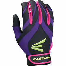 Easton Synergy II Fastpitch Batting Gloves Youth Black Pink Purple Med or Lg