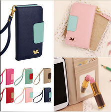 Wholesale PU Leather For iPhone 4/4S 5/5S/6 Wallet Card Holder Flip Case Cover