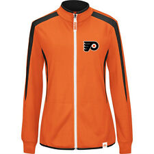 Majestic Philadelphia Flyers Womens Quick Whistle Cool Base Full Zip Jacket