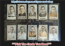 ☆ Gallaher - Famous Footballers (Green) 1925 (G/F) *Pick The Cards You Need*