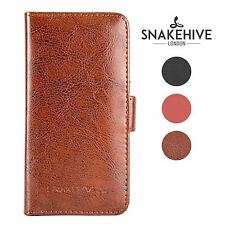 Snakehive® Samsung Galaxy S6 Edge Leather Folio Wallet Flip Case w/Card Slots