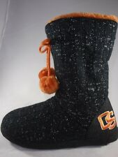 Women's OREGON BEAVERS Black/Orange Casual Pull On Slippers House Shoes NEW