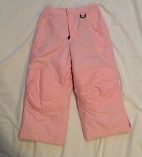 Lands' End Girls Size 4 Pink Snow Pants Weather Proof Water Proof Snow Proof