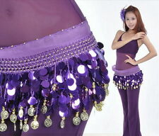 Coloured Coin Belly Dance Hip Scarf Waistband Skirt Belly Dance Costume 9 Colors