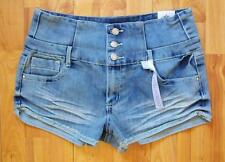 Nwt Almost Famous Jeans Juniors HIGH WAIST Denim Shorts Size 9 11