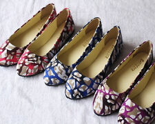 New Stylish Casual Womens Lady Canvas Flats Shoes Slip On Ballet Loafer Slipper