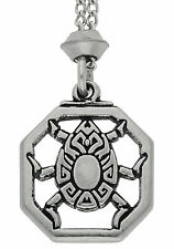 Handmade Magical Egyptian Scarab Pewter Chain Pendant ~ Protective