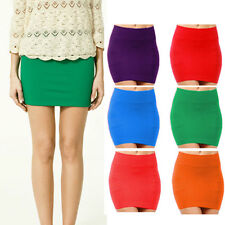Sexy Lady Mini Skirt Slim Seamless Stretch Tight Short Fitted Candy Dress Skirt