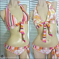 NWT JESSICA SIMPSON SWIMWEAR SML/LRG/X-LRG BIKINI REVERSIBLE TOP LOW RISE BOTTOM