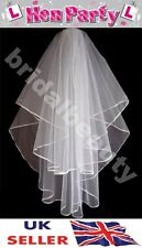White Bridal Veil Hen Night Fancy Dress Party Bride To Be Zombie Corpse Dead