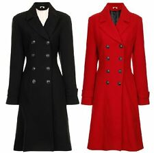 New Wallis Womens Double Breasted Coat Fashion Long Buttoned Lined Jacket Trench