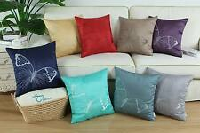 """18"""" X 18"""" Cushion Cover Pillow Shell Various Colors Vivid Butterfly Embroidered"""