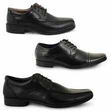 MENS LEATHER STYLE OXFORD FORMAL SMART PARTY WORK OFFICE LACE UP SHOES SIZE