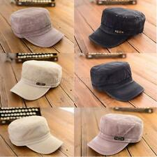 Fashion Adjustable Classic Men Women Army Plain Vintage Hat Cadet Military Cap