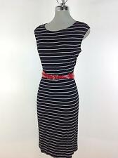 New Directions NWT Elegant Black Pinstripe Shift Dress Career Wear to Work