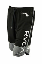 RVCA BJ Penn Block Athletic Shorts (Black/Gray)