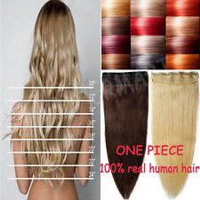"""US STOCK 1PCS 3/4Full Head Clip In Remy Human Hair Extensions 16""""18""""20""""22"""" B612"""