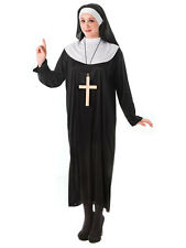 Ladies Nun Sister Holy Fancy Dress Costume Habit Hen Party Outfit Religious Monk