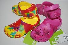 NWT CROCS CLASSIC TIE DYE KIDS CLOGS PINK YELLOW 6/7 8/9 10/11 12/13 1 2 3 shoes