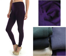Sexy Fall Warm Plain Dance Seamless Footless Fleece Tight Leggings FREE SIZE S-L