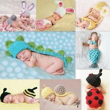 NewBorn Baby Girl/Boy Crochet Knit Costume Clothes Photo Photography Prop Hat