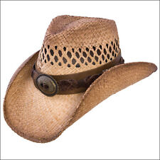 CHARLIE1HORSE WOMENS CHARLIE 1 HORSE STRAW DIRT ROAD HAT W/ LEATHER BAND CONCHO