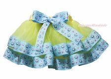 Yellow Birthday Cupcake Trimmed Tutu Dress Baby Girls Pettiskirt Skirt NB-8Year