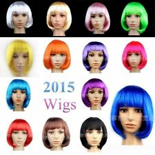 Wome's Short Wigs Straight Full Wigs Theme Party Cosplay Fancy Dress Costume