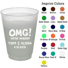 Personalized custom frosted cups wedding favor shatterproof plastic cups (1910)