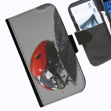 Ladybird Leather wallet phone case for iPhone Samsung Sony Huawei Blackberry