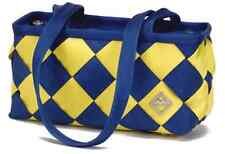 Maggie Bags Small Tote Handbag Recycled Seatbelt Purse - Yellow & Purple
