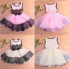 Baby Kid Girl Princess Tulle Lace Tutu Party Evening Dress Skirt Clothes 5 Sizes