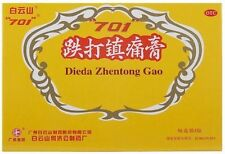 Relieving Pain Plaster Chinese Herbal Medicine 白云山 701 跌打镇痛膏 Dieda ZhenTong Gao