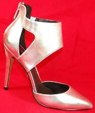 NEW Women's ROCK REPUBLIC EMERY Silver Fashion High Bootie Zipper Dress Shoes