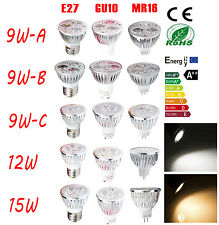 High Power 9W 12W 15W E27 GU10 MR16 LED Light Energy Saving Spotlight LED Bulb