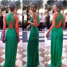 Women Long Formal Prom Dress Cocktail Ball Gown Evening Bridesmaid Dress JHRG