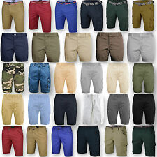 Mens Chino Shorts Bottom Knee Length Cargo Combat Pant Cotton Casual Summer New