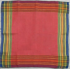 CHECKED HANDKERCHIEF HANKIE VINTAGE 1960s 1970s MOD SKA SKINHEAD RED YELLOW BLUE