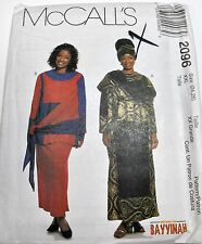 McCalls Sewing Pattern # 2096 Vintage Ethnic Dress, Top, Skirt, Hat Choose Size