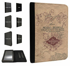 446-Harry Potter Marauder Map Kindle Fire Hd 7'' HDX Paperwhite Case Flip cover