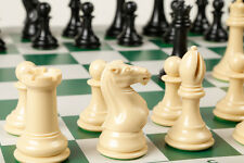 """Extra-Heavy, Extra-Large CHESS SET. Game Board + Chess Pieces 4"""" King + 4 lb Set"""